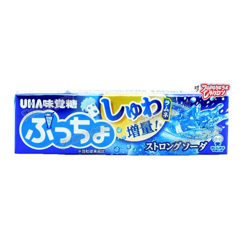 Japanese Candy: UHA Puccho Strong Soft Candy (Soda)