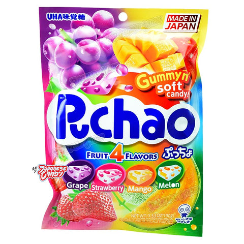 Japanese Candy: UHA Puchao Fruit Mix Soft Candy