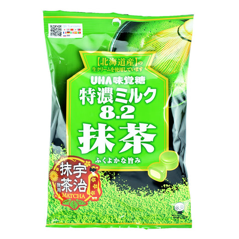 Japanese Candy: UHA Tokuno Milk Matcha Soft Candy