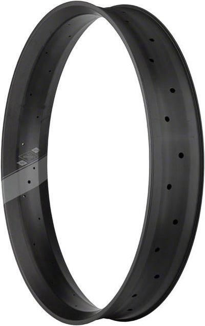 "Whisky 9 Carbon Tubeless Fat Trail Rim, 26"",100mm Width, 32 Hole, Black"