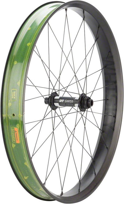 "Whisky No.9 Fat 100w Front Wheel, 26"" DT 350 Big Ride"