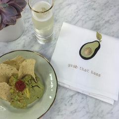 Avocado and guacamole with Anthropologie plates