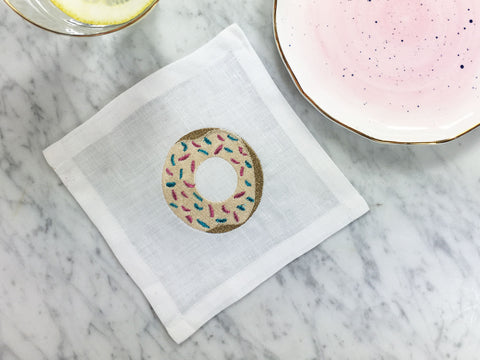 Cocktail square Donut and Anthropologie plates
