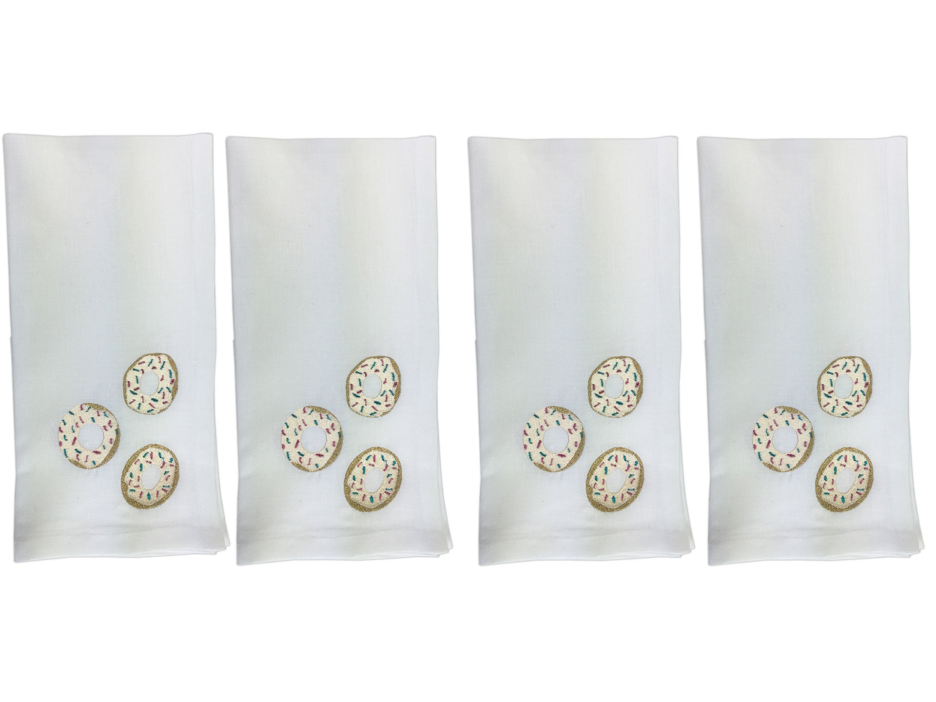 Donut Napkin Set White