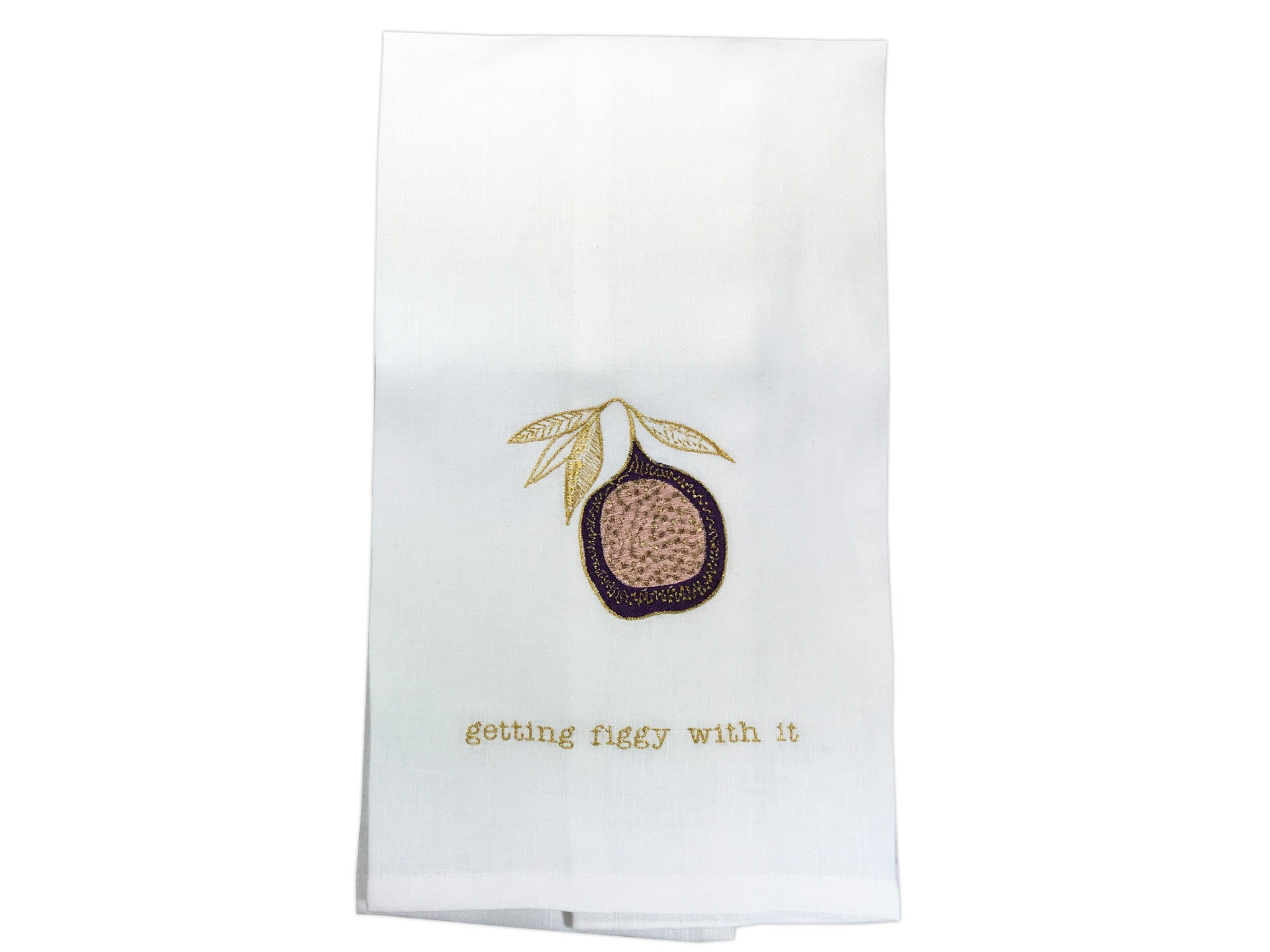 Figgy Tea Towel White