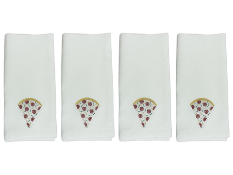 Home Slice Napkin Set White