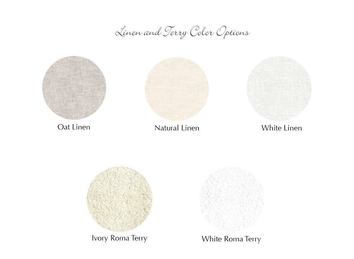 Linen and Terry Color Options