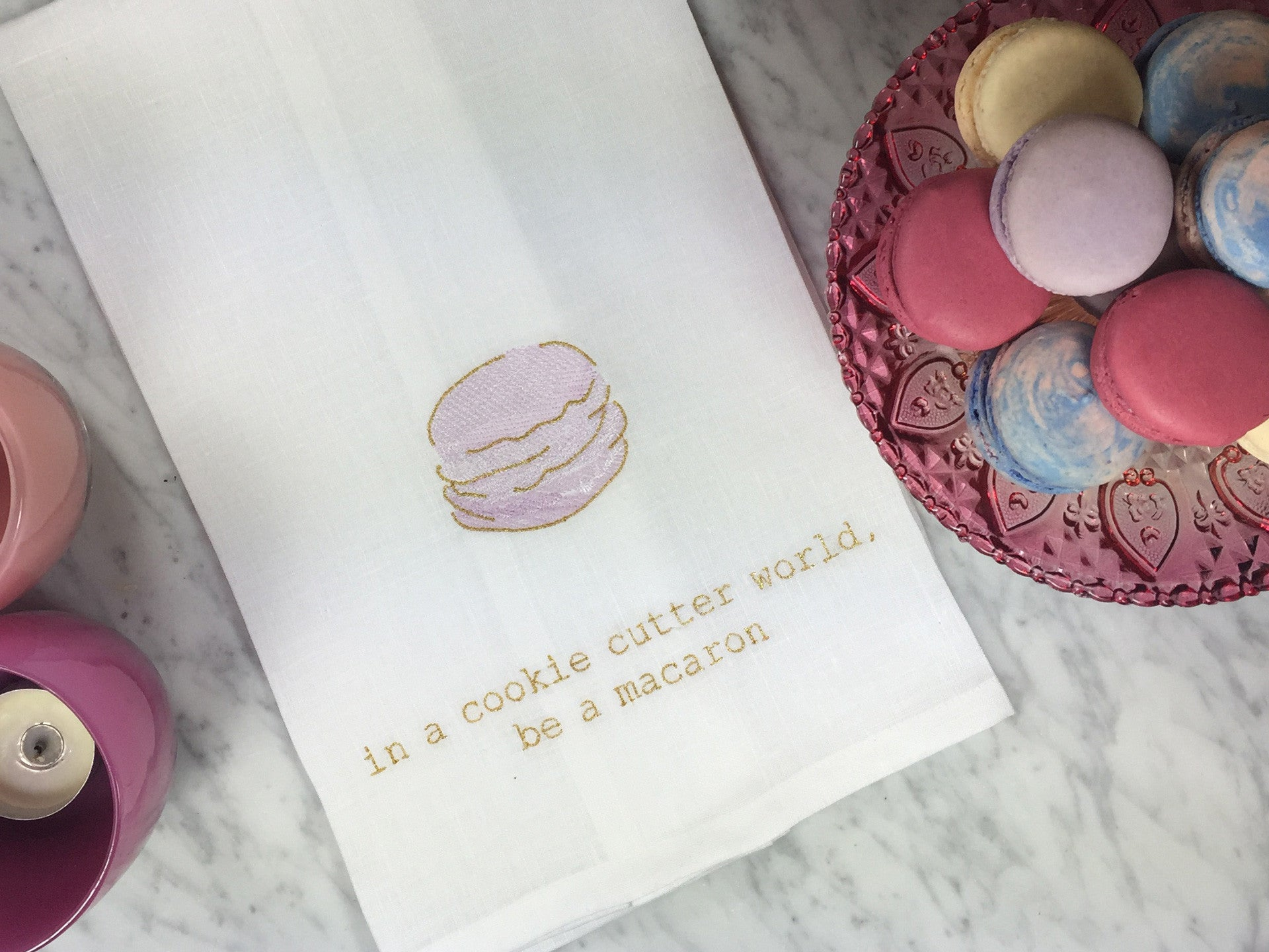 Macaron Motivation with Lady Yum Macarons and Anthropologie Dessert Stand