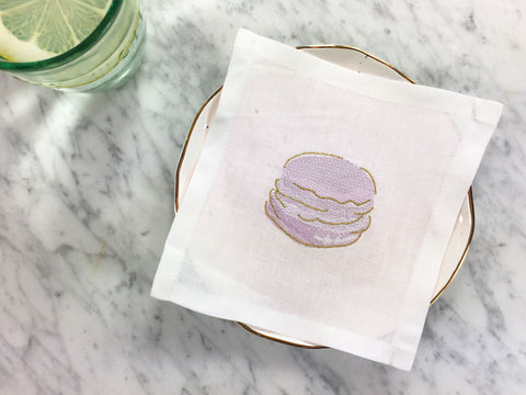 Macaron Motivation Cocktail Square Set