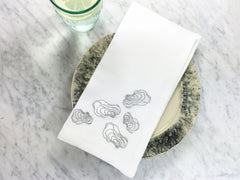 Oyster Napkin with anthropogie plate