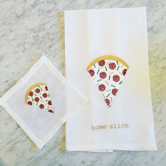 Pizza Cocktail Square and Tea Towel