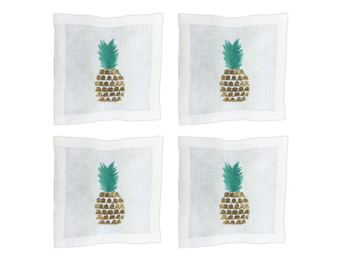 Party Like a Pineapple Cocktail Square Set