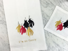 So Fancy Tea Towel and Cocktail Square