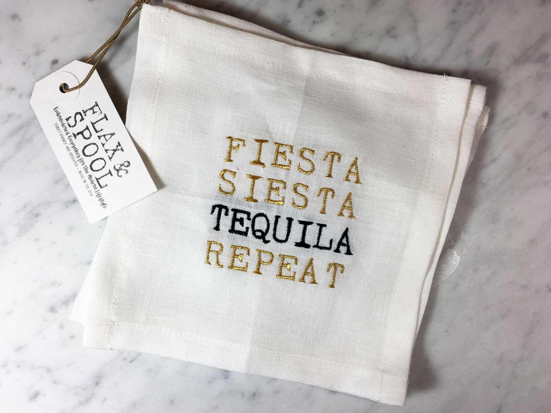Fiesta, Siesta, Tequila, Repeat Cocktail Square Set