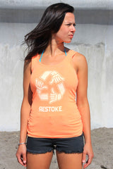 Womens Tank Top Neon Hether Orange
