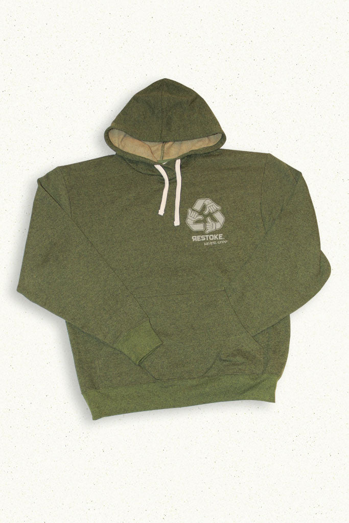 ECO PULLOVER HOODIE MENS GRASS