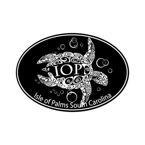 Decal Oval Turtle with IOP in Shell