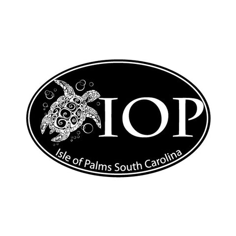 Decal Oval Turtle with Large IOP Logo