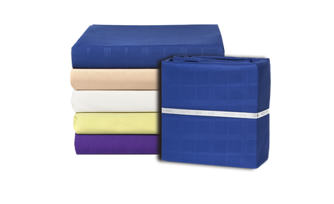 Brushed Microfiber Sheet Sets Square Pattern