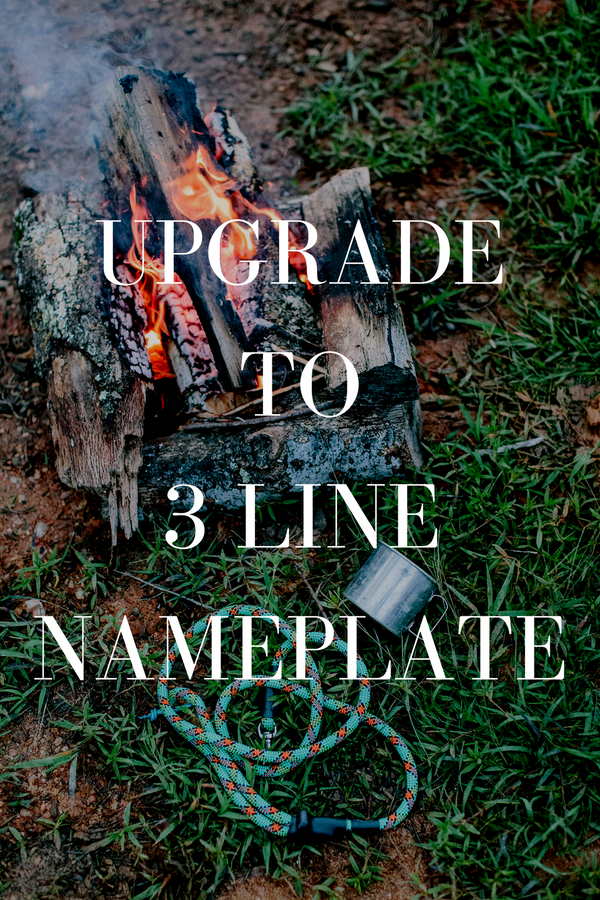 Upgrade to 3 Line Nameplate on LEATHER Collar