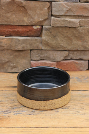 Midnight Sands Ceramic Dog Bowl