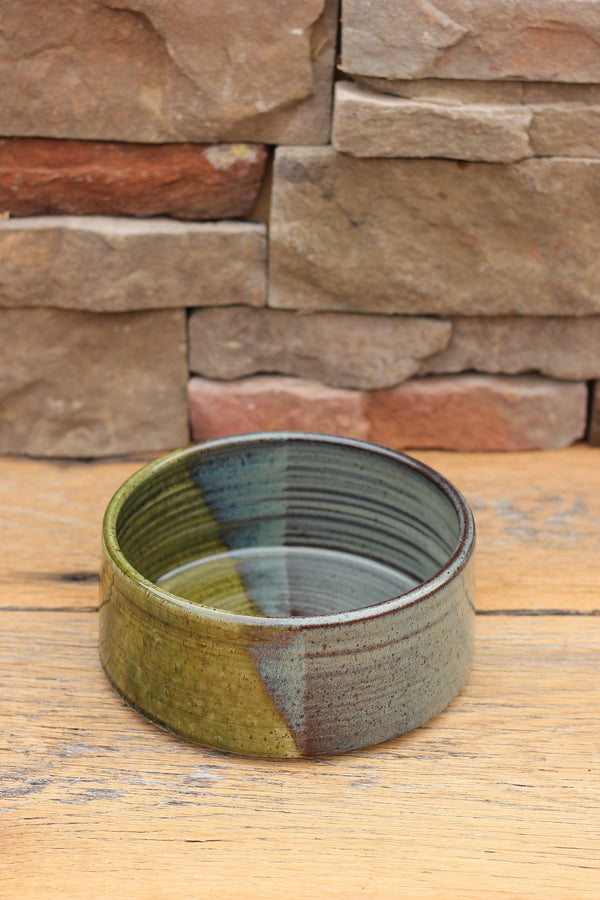 Spring Streams Ceramic Dog Bowl