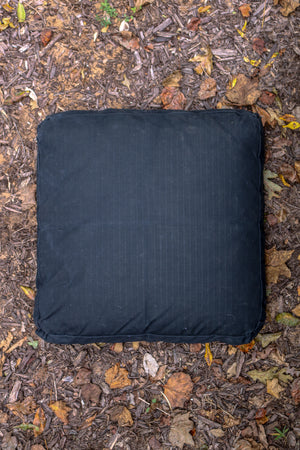 Waxed Canvas Dog Bed // BLACK GRIDWAX