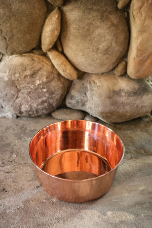 Solid Copper Dog Bowls