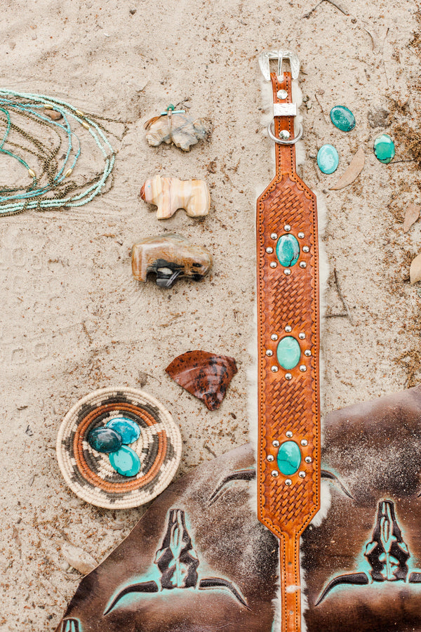 The Santa Fe Leather Dog Collar