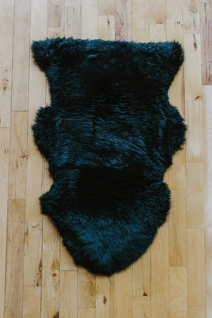 Sheepskin Dog Bed & Rug // BLACK