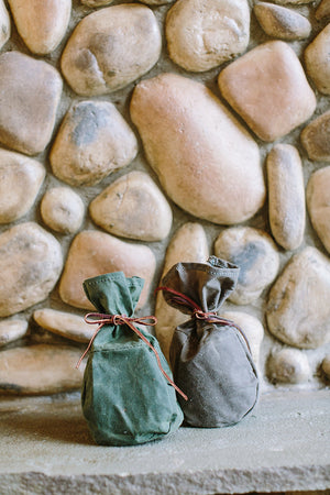 Waxed Canvas Kibble Carrier Bag // FOREST