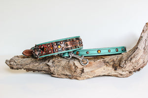 Add Crystals and Spots to LEATHER Leash