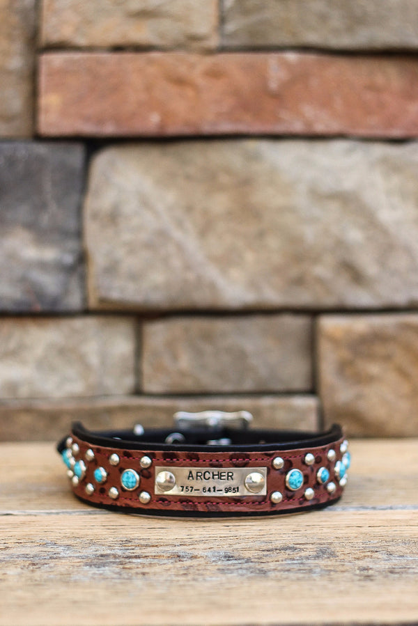 The Denver Leather Dog Collar