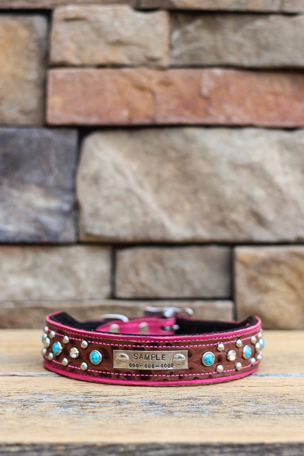 The Vegas Leather Dog Collar