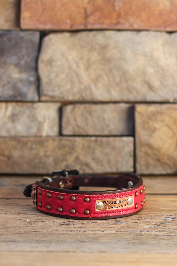 The Nashville Leather Dog Collar