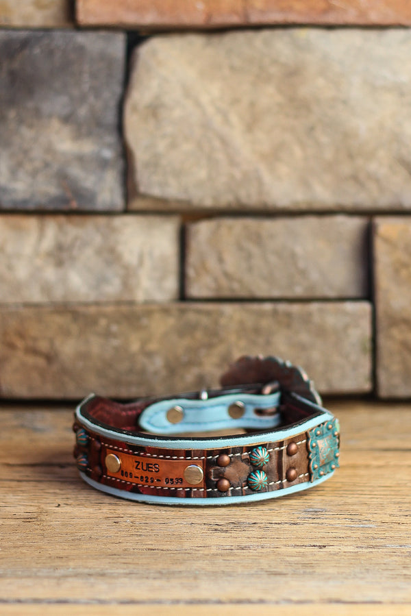 The Mesquite Leather Dog Collar
