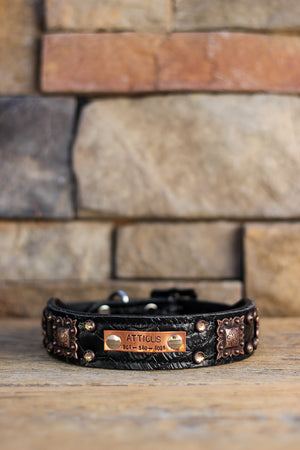 The Ozzy Leather Dog Collar