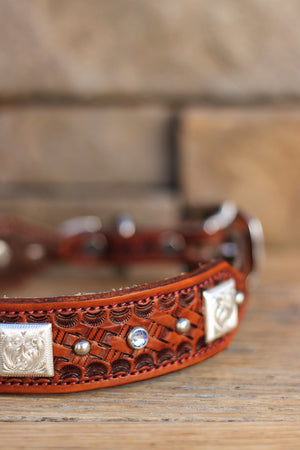 The Dallas Leather Dog Collar