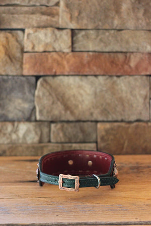The Fiona Leather Dog Collar // Extra Wide