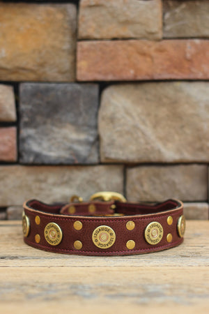 Traditional Hunter Leather Dog Collar