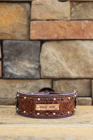 The Jenna Leather Dog Collar