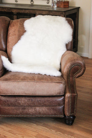 Sheepskin Dog Bed & Rug // WHITE