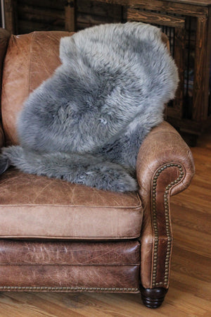 Sheepskin Dog Bed & Rug // GUNMETAL GREY