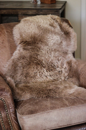 Sheepskin Dog Bed & Rug // COFFEE & CREAM