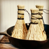 6 Pack Broomcorn Pot Scrubbers - Dutch Oven - Veggies - Potatoes - American Broom Shop