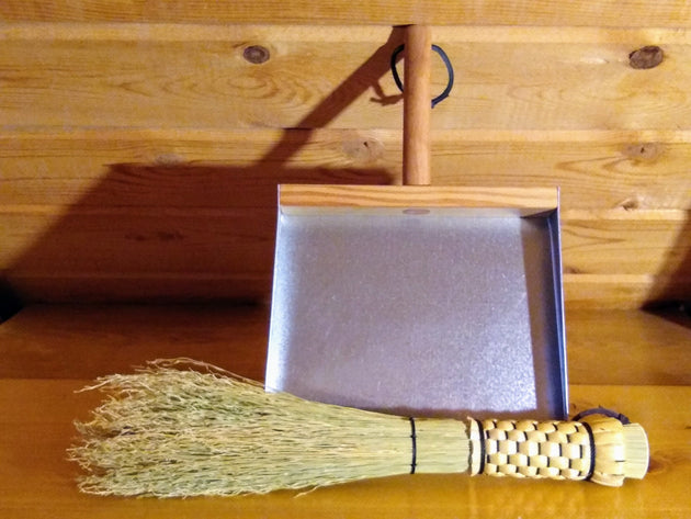 Otter Tail Whisk and Dustpan Set - Cleanup Kit - Old-Fashioned Whisk and Dustpan - American Broom Shop