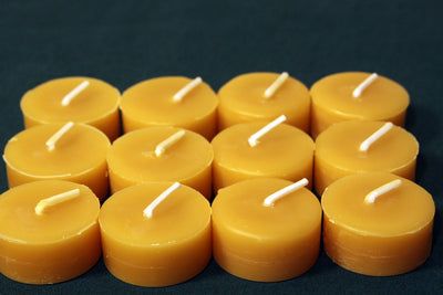 Beeswax Candles - 100% Pure Beeswax Tealight Refills -- 12 Pack -- Refills without the Cups! -- Free Shipping