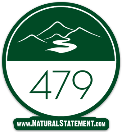 479 Circle Sticker - Hometown Press | NTRL STMT | Catalyst | Print Local