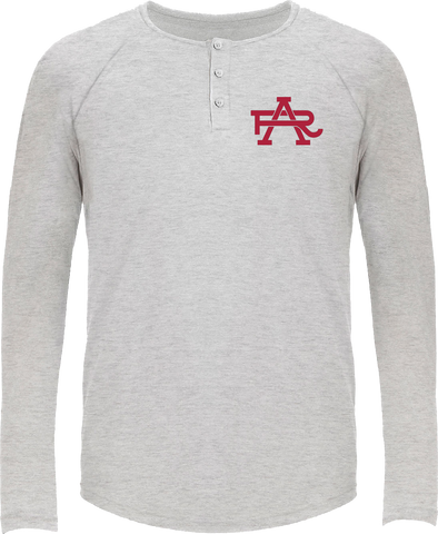AR Intertwined Long Sleeve Tri-Blend Henley