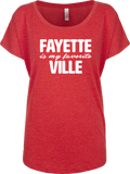 Fayette Is My Favorite Ville Ladies' Flowy Dolman - Livespire Apparel